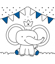 Elephant to color for kids