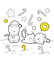 Kittens to color for kids