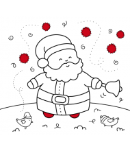 Santa Claus to color for kids