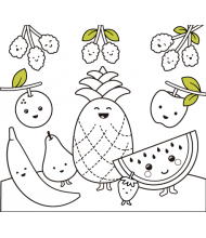 Fruit to color for kids