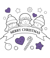 Merry Christmas to color for kids