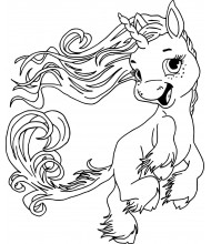 Funny unicorn to color for kids