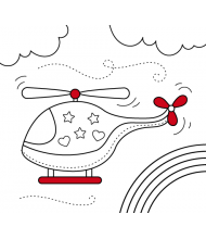 Helicopter to color for kids